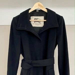 Burberry Cashmere & Wool Belted Long Coat
